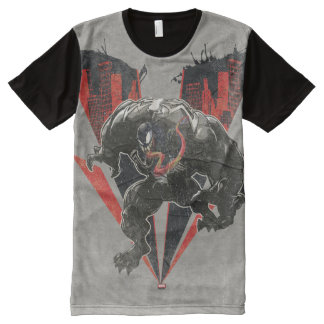 Venom Ink And Grunge All-Over-Print T-Shirt