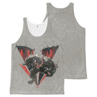 Venom Ink And Grunge All-Over-Print Tank Top