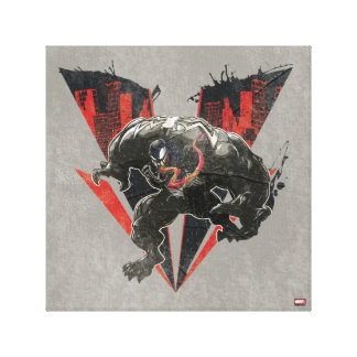 Venom Ink And Grunge Canvas Print