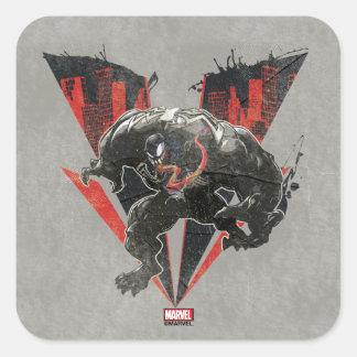 Venom Ink And Grunge Square Sticker