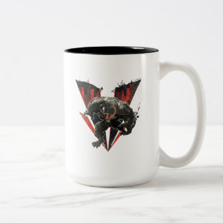 Venom Ink And Grunge Two-Tone Coffee Mug