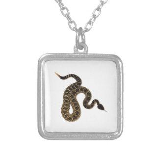 Venomous Bites Silver Plated Necklace