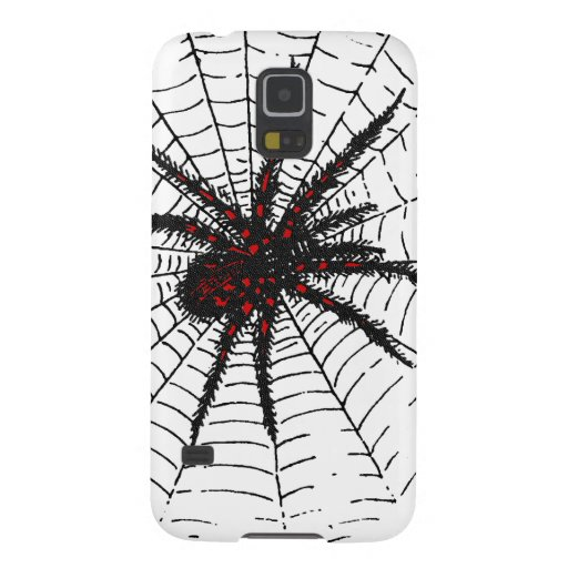Venomous Black Spider Scary Insect Art Galaxy Nexus Covers
