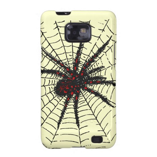 Venomous Black Spider Scary Insect Art Samsung Galaxy SII Cover