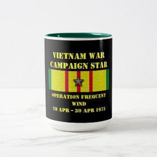 Vent fréquent/campagne d'opération mug bicolore