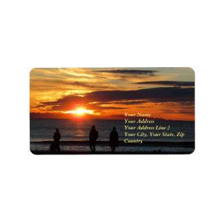 Ventura Beach Sunset Address Label