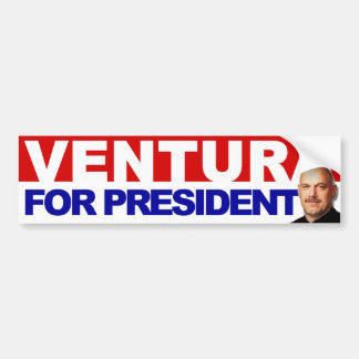 Ventura for President - Basic Red an Blue Bumper Sticker
