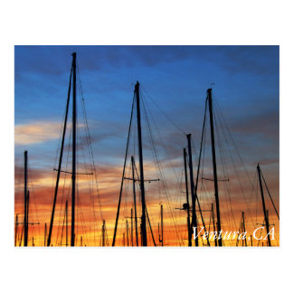 Ventura Harbor morning sky Postcard