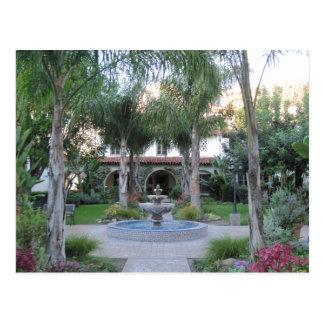 Ventura Mission Garden and Fountain Postcard
