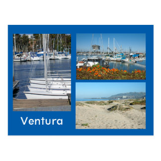 Ventura Shore Three Photo Postcard