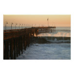 Ventura Storm Pier Poster