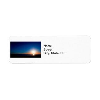 Ventura Sunset Return Address Label