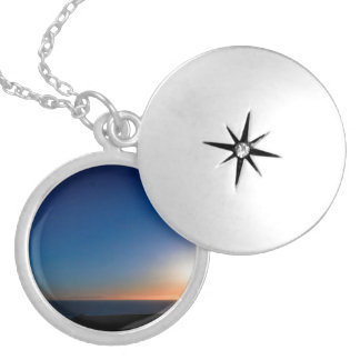 Ventura Sunset Silver Plated Necklace