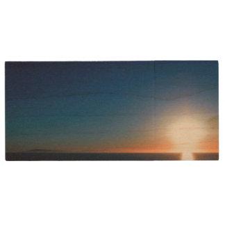 Ventura Sunset Wood USB 2.0 Flash Drive