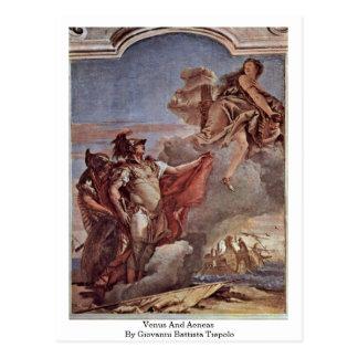 Venus And Aeneas By Giovanni Battista Tiepolo Postcard