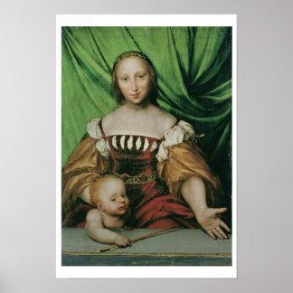 Venus and Cupid, c.1524 (oil on limewood) Poster