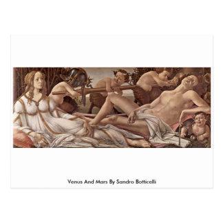 Venus And Mars By Sandro Botticelli Postcard