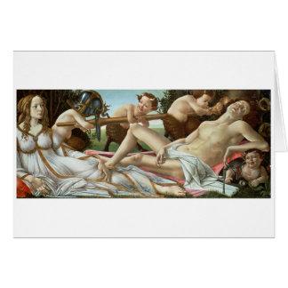 Venus and Mars, c.1485 (tempera and oil) Greeting Card