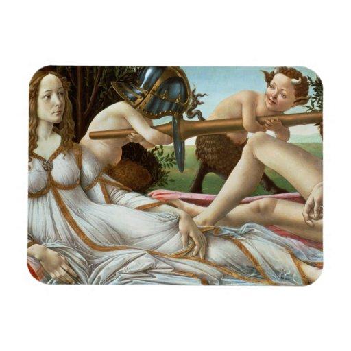 Venus and Mars, c.1485 (tempera and oil) Rectangle Magnet