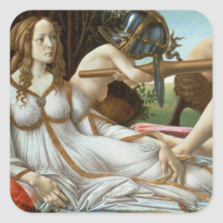 Venus and Mars, c.1485 (tempera and oil) Square Sticker