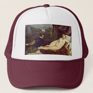 Venus And The Organ Player By Tizian Trucker Hat