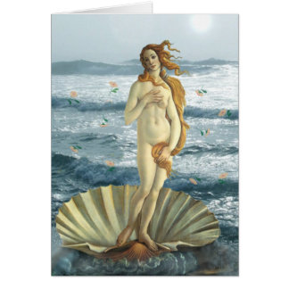 Venus at the Beach greeting card