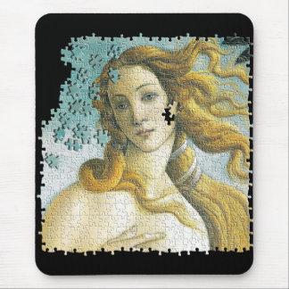 Venus Botticelli puzzle Mouse Pad