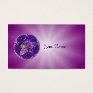 Venus Flower of Love fineART violet pink Business Card