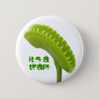 Venus Fly Trap 2 Inch Round Button