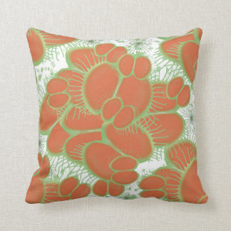 Venus Fly Trap Abstract Throw Pillow