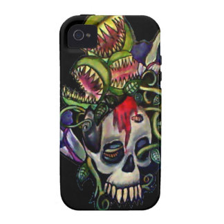 Venus Fly Trap & Corpse Flower Skull Phone Case iPhone 4 Covers