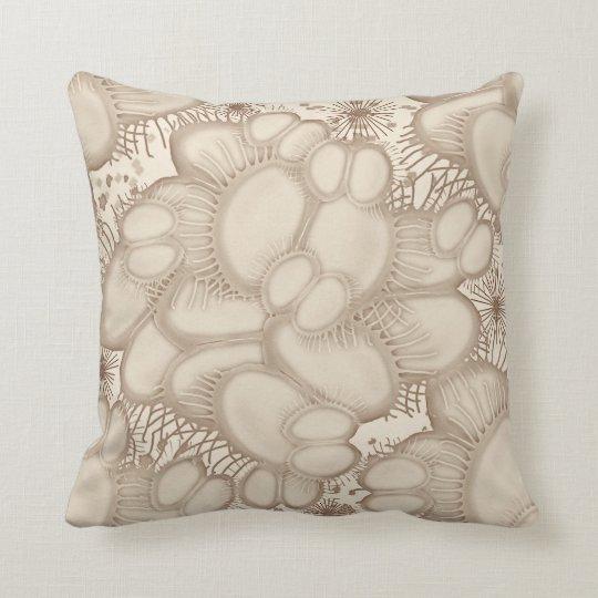 Venus Fly Trap Neutral Throw Pillow