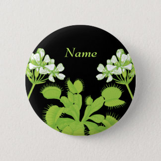 Venus Flytrap Name Tag 2 Inch Round Button