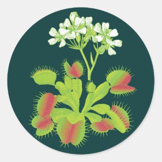 Venus Flytrap Plant Round Stickers
