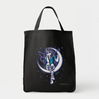 """Venus Moon"" Crescent Moon Fairy Art Canvas Tote"