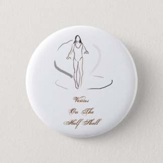 Venus On The Half Shell 2 Inch Round Button