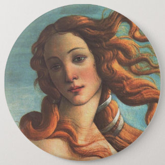 Venus on the Half Shell (detail) 6 Inch Round Button