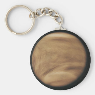 Venus, second planet from the sun basic round button keychain