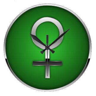 Venus Symbol Large Clock