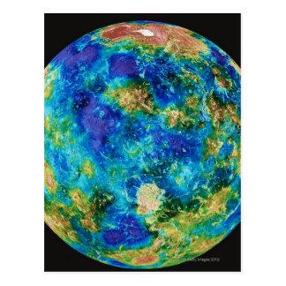 Venus Under False Color Postcard