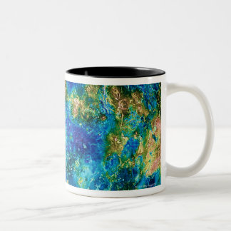 Venus Under False Color Two-Tone Coffee Mug