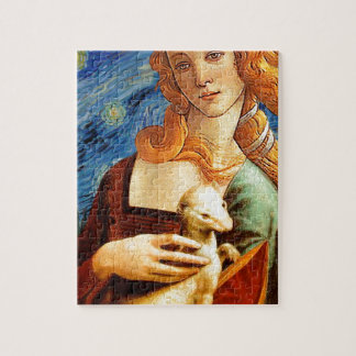 Venus with a Ermine in a Starry Night Jigsaw Puzzle