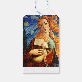 Venus with a Ermine in a Starry Night Pack Of Gift Tags