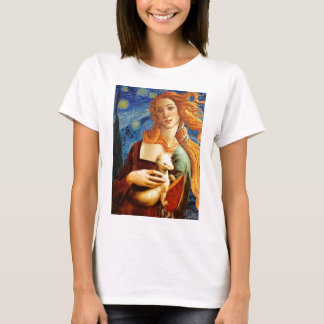 Venus with a Ermine in a Starry Night T-Shirt