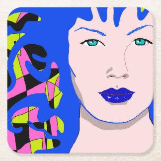 Venusian Illustration Square Paper Coaster