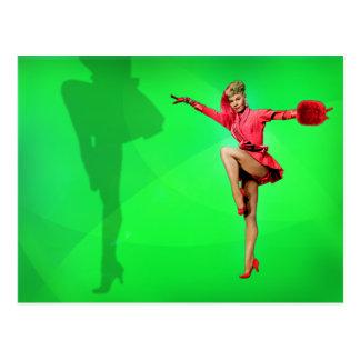 Vera-Ellen and her legs postcard