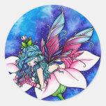 Vera Fairy Fantasy Flower Round Stickers