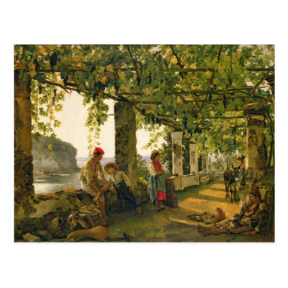 Verandah with twisted vines, 1828 postcard