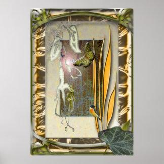 Verbena-Garden with fuchsia Poster
