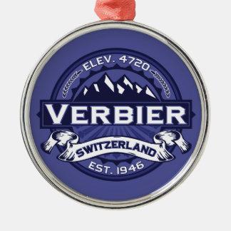 Verbier Logo Midnight Metal Ornament